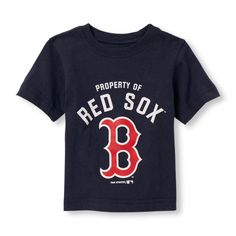 Baby Boys Toddler Boys Short Sleeve Boston Red Sox Logo Graphic Tee - Blue T-Shirt - The Children's Place