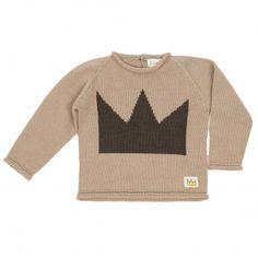 Jersey tricot bebé corona, color topo.