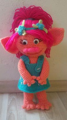 Amigurumi Doll Anleitung : Troll Poppy Crochet Doll Amigurumi Poppy Princess Crochet ...