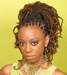 Loc Hairstyles For Women | ... the criss cross locs in the front. | Black Women Natural Hairstyles