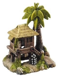 Aqua Della Tropical Island with House Decoration Ornament, x 15 x Tropical Decoration island, Tropical Island With plastic plants. Polyresin replica with authentic natural look dimensions x 15 x Fish Tank Accessories, Aquarium Decorations, Tropical Decor, Pet Products, Pet Supplies, Image Link, Cute Animals, Island, Bird