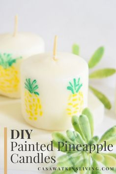 DIY pineapple painte