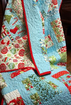 christmas quilt over chair by JKornegay, via Flickr