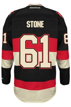 Ottawa Senators Mark STONE #61 Official Third Reebok Premier Replica NHL Hockey Jersey (HAND SEWN CUSTOMIZATION)