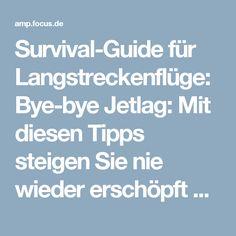Survival-Guide für Langstreckenflüge: Bye-bye Jetlag: Mit diesen Tipps steigen Sie nie wieder erschöpft aus dem Flieger - FOCUS Online