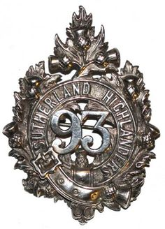 93rd HLDRS (A & S.H.) OFFICERS PRE TERRITORIAL GLENGARRY BADGE C.1874 to 1881
