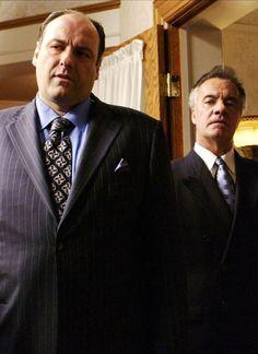 James Gandolfini (Tony Soprano) and Tony Sirico (Paulie Gualtieri) in The Sopranos