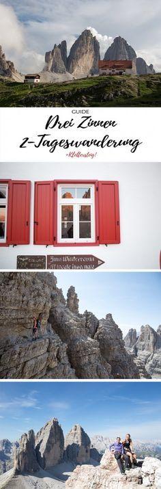 Via ferrata tour at the Drei Zinnen Hike to the Drei Zinnen hut. Places To Travel, Places To See, Travel Destinations, Italy Vacation, Italy Travel, Best Travel Sites, Austria, Reisen In Europa, South Tyrol
