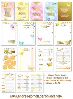 planner inserts printable andrea gomoll