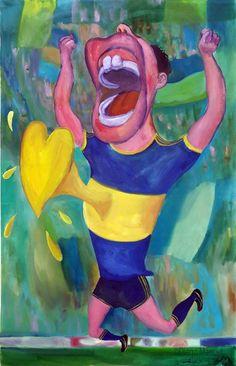 Gool Gool ! 2, acrylic on canvas, 95 x 61 cm. 2006. Pintura sobre el futbol argentino a la venta del artista plastico Diego Manuel Rodriguez