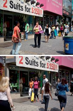 Paul Graham, 34th Street, 4th June 2010, 3.12.58 pm, Diptych from The Present