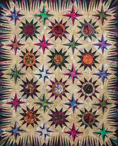 Mariner's Star ~ Full Quilt ~ Quiltworx.com, made by Linda Tellesbo