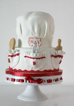 Chef's Hat Cake with how-to