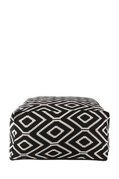"Our jacquard geometric weave pouffe will provide the perfect finishing touch to any lounge setting. Filled with recycled polystyrene beads this pouffe provides comfort with ease of mobility.<div class=""pdpDescContent""><BR /><b class=""pdpDesc"">Dimensions:</b><BR />L60xW60xH35 cm<BR /><BR /><b class=""pdpDesc"">Fabric Content:</b><BR />100% Cotton<BR /><BR /><b class=""pdpDesc"">Wash Care:</b><BR>Spot clean only. Do not submerge in water</div>"