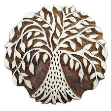 Tree Handcarved Textile Stamp For Clay Printing Block Wood Block Art Blockprint