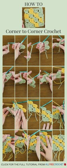 Click to learn how to corner to corner crochet.