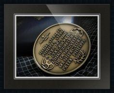"Patek Philippe Geneve Commemorative Medal Coin // Paper: enhanced matte; Glazing: acrylic; Moulding: black, gallery black; Top Mat: black/gray, nightshade; Middle Mat: blue, midnight; Bottom Mat: white/cream, topaz // Price starts at $153 (Petite: 20.25"" x 22.25""). // Customize at http://www.imagekind.com/Patek-Philippe-Geneve-PPG_art?IMID=02d2d878-c1ec-4135-b5f1-3c17e7a5ee8b"