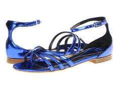 Sandal options, for when I have $466 to spare- McQueen sandals in Cobalt - Zappos.com