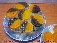 Καραμελωμένες φέτες πορτοκαλιού με σοκολάτα - από «Τα φαγητά της γιαγιάς» Yams, Scones, Tea Party, Pudding, Sweets, Homemade, Fruit, Cooking, Breakfast
