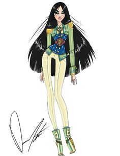 Disney fashion frenzy, Mulan , Warrior princess by Daren J