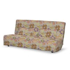 Poťah na sedačku Beddinge (dlhá), tkanina:705-11 oranžovo-fialové kvety na ľanovom podklade, Kolekcia Etna Beddinge, Ikea, Couch, Furniture, Home Decor, Settee, Decoration Home, Ikea Co, Sofa