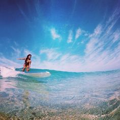 perfectly clear water and surf :)