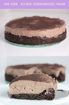 Low carb and chocolate? Here comes an absolute chocolate mousse dream. - Low carb and chocolate? Here comes an absolute chocolate mousse dream. Chocolate cake with chocolat - Chocolate Cream, Chocolate Cake, Law Carb, Paleo Dessert, Low Carb Desserts, Keto Snacks, Low Carb Keto, Food And Drink, Yummy Food