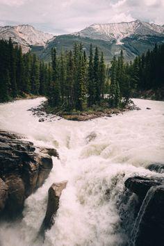 ✿ ❤   Sunwapta falls, Canada.