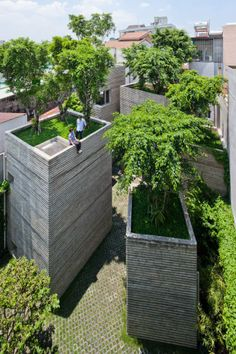 House for Trees by Vo Trong Nghia Architects. Tan Binh [Ho Chi Minh City] Vietnam #architecture