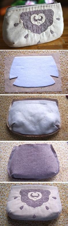 Zippered Pouch / Cosmetic Bag / Make up Bag. DIY. Tutorial with Photos.  http://www.handmadiya.com/2016/02/handbag-with-zipper-tutorial.html
