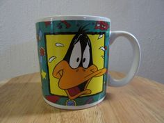 Vintage Daffy Duck Coffee Cup, Daffy Duck Mug, Daffy Duck, Looney Tunes Daffy Duck, Warner Bros Daffy Duck, by UNBROKENPAST on Etsy