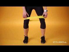 Sporty Stylight - Tutorial: Mimi zeigt dir Übungen für starke Knie mit einem Miniband