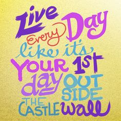 Declarations for Disney Fans: live every day like it's your first day outside the castle wall.