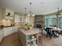 Illuminating Idea - Spacious Kitchen With Sophistication  on HGTV