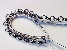 Diy jewelry making tutorials step by step beads wire wrapping ideas - Diy j. - Diy jewelry making tutorials step by step beads wire wrapping ideas – Diy jewelry making tut - Wire Jewelry Making, Jewelry Making Tutorials, Wire Wrapped Jewelry, Jewellery Making, Diy Schmuck, Schmuck Design, Copper Jewelry, Fine Jewelry, Wire Jewelry Earrings