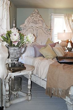 Gorgeous Bedroom Decor at the April 2013 Design House at Lucketts Store - The Graphics Fairy