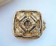 Tiny Antique GoldPlate Snuff Box/ Pill Box / by CompactQueen, $300.00