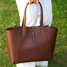 Leather Tote Bag Brown - Leather Handbag - WomenLeather Bag - Leather Shopper Bag - Leather Shoulder Bag