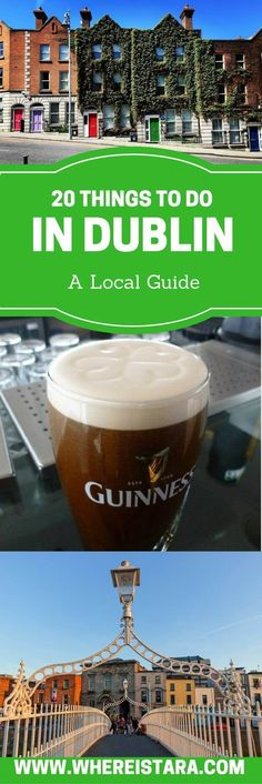 20 Things to do in Dublin as written by a local! The Guinness Storehouse, Jameson Whiskey Tour, Viking Splash tour and more. There are so many things to do in Dublin. This guide will help you to plan your trip to Dublin. Includes ways to skip the queue at popular attractions. #irelandtravel