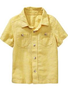 Linen-Blend Shirts for Baby: $14.94, available in sizes 12 months to 5 years. Old Navy: $, local Cville franchise