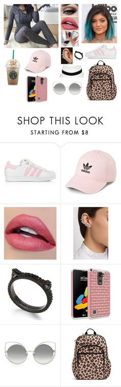 """School Babe"" by divinemaboundou ❤ liked on Polyvore featuring adidas, Tiger Mist, Ryan Storer, Kate Spade, Marc Jacobs, Vera Bradley and River Island"