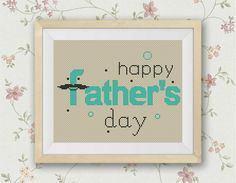 BOGO FREE! Father's day Cross Stitch Pattern,easy father's day gift, love daddy, papa, Modern Decor Embroidery PDF Instant Download ,S102 by LittleCrossStitch on Etsy