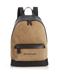 Balenciaga Bi-colour suede and leather backpack