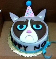 Grumpy  Cat cake       facebook SweetJeaniesCakeCo