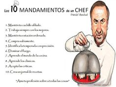 los 10 mandamiento de un chefs.