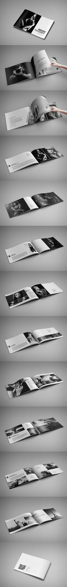 Photo Album / Portfolio Photography Brochure Template InDesign INDD - 24 Pages, A4 & US Letter Size