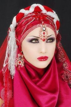 Moroccan in red