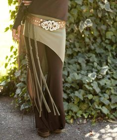 Pagan Skirts Wicca Witch:  Elven Over Skirt with Braids.  By Elven Forest Creations.