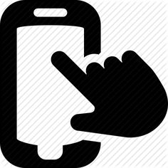 interaction, mobile, touch device, touch screen, usability icon