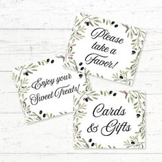 Tuscan Italian 3 Pack Printable Signs Cards and Gifts Sign by CrissyDesignCo Bridal Bingo, Bridal Shower Games, Wedding Signs, Wedding Favors, Chic Wedding, Fingerprint Tree, Whats In Your Purse, Greek Wedding, Shower Baby